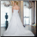 Elegant Plus Size Satin Wedding Dress showing back of gown and train