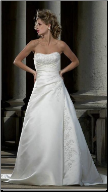 Elegant Strapless Satin Bridal Gown
