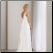 Elegant and Lovely Chiffon Wedding Dress - back of gown