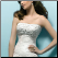 Embroidered Princess Satin Wedding Dress - showing embroidered bodice