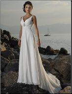 Empire Line Beach Wedding Gown
