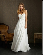 Empire Line Chiffon Bridal Gown