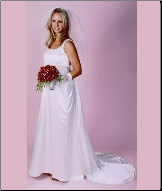 Empire Line Satin Maternity Gown for Bride