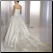 Exquisite Strapless Satin Princess Style Ball Gown showing back of gown
