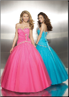 Fabulous Tulle over Satin Quinceanera Ballgown
