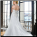 Figure Flattering Taffeta Plus Size Wedding Dress showing back of gown