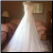Chiffon over Satin Wedding Gowns with Lace Shoulder Straps for rent, size 10 - gown shown with crinoline