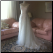 Gorgeous Chiffon over Satin Bridal Gown with Shoulder Straps - gown shown without crinoline - size 10