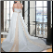 Halter Neckline Plus Size Satin Wedding Dress showing detailed gown from the back