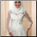 High Neckline Long Sleeve Lace Muslim Wedding Dress with Hijab - close up of bodice