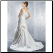 Inexpensive Off-the-Shoulder Taffeta Wedding Gown - back of gown