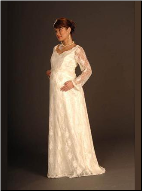 Lace Maternity Wedding Gown with Long Sleeves