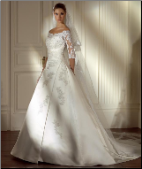 Lace and Satin Bridal Gown