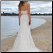 Lace over Satin Wedding Dress - view of elegant back and train