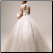 Mandarin Collar Organza and Lace Wedding Gown - back of gown