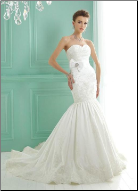 Mermaid Taffeta Wedding Dress