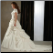 Modest Short Sleeved Taffeta and Organza Wedding Gown with Lace view of back and train
