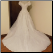 Off-the-Shoulder Bridal Ball Gown in stock size 14 - back of gown showing train