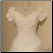 Off-the-Shoulder Bridal Ball Gown in stock size 14 - close-up of bodice