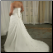 Plus Size Strapless Neckline Chiffon over Satin showing back of gown and lace up detail