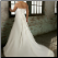 Plus Size Strapless Neckline Chiffon Wedding Dress - showing back of gown