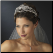 Princess Caroline of Monaco Rhinestone Royal Couture Tiara in silver worn with bridal veil