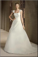 Princess Satin and Organza Wedding Gown