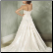 Princess Style Strapless Sweetheart Neckline Wedding Dress - back view showing train and corset lace up back