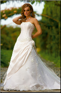 Princess Style Tulle and Satin Wedding Dress