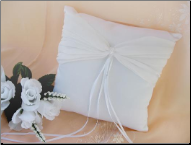 Crystal Accented Bridal Ring Bearer Pillow