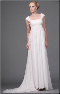 Romantic Chiffon Empire Line Wedding Gown
