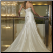 Romantic Strapless Satin Wedding Dress back view showing lace up back and train
