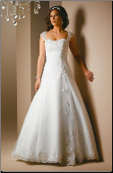 Romantic Tulle over Satin Embroidered Lace Wedding Dress