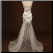 Satin Mini Sheath Sweetheart Neckline Gown with Long Tulle Skirt - back of gown