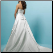 Satin Princess Style Wedding Dress - back of gown showing lace up back and train
