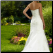 Satin and Lace Wedding Dress - view of elegant lace up back and train