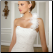 Satin and Organza Fit and Flare Bridal Gown - close-up of bodice and optional shoulder strap
