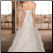 Back of Satin and Tulle Fit-and-Flare Wedding Gown