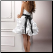 Short and Sweet Satin Dress for Wedding or Reception - back of dress