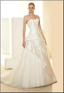 Strapless Princess Taffeta and Tulle Wedding Gown