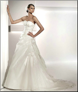 Strapless Satin and Organza Bridal Gown