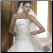 Stylish Strapless Satin A-Line Bridal Gown - close-up of bodice
