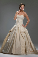 Taffeta and Lace Wedding Ballgown