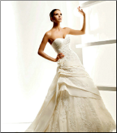 Taffeta and Lace Wedding Gown