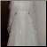 Vintage Organza over Satin and Lace Wedding Gown for rent showing back of gown