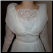 Vintage Organza over Satin and Lace Wedding Gown for rent - bodice close-up