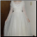 Vintage Organza over Satin and Lace Wedding Gown for rent showing full skirt