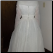 Back of Vintage Organza over Satin and Lace Wedding Gown for rent