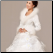 Winter Wedding Gown with Long Sleeves and Fur Edging - close-up of bodice