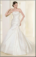 Elegant Satin and Taffeta Wedding Gown